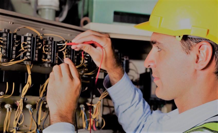 Electrician Working On System